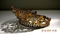 Circa 1800s Antique French Crown Tiara Religious by euromercantile