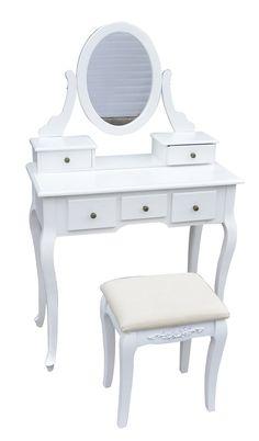Mobile da toalet trucco madrid bianco 3 specchi nuovo for Specchio da tavolo ikea