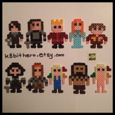 Game of Thrones Character Magnets perler beads by K8BitHero
