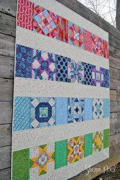 The Power of 9 Ninepatch bom, Rebecca Mae Designs, scrappy version and Quilt as you go