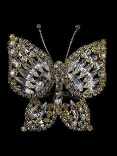 Spectacular Juliana Jewelry Butterfly Brooch Massive by hipcricket, $85.00