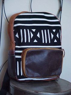 NOT VEGAN :( New African Print Backpack by thingsbuilt on Etsy, $75.00