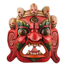 Mahakala is a Dharmapala, a protector of religious law. He is always depicted as an extremely fierce and terrifying deity. His purpose is to help in overcoming negative obstacles on the path to enlightenment. A compassionate and wrathful deity, Mahakala appears evil like a demon, but functions more like a guard dog or guardian angel. His crown of five skulls represents the transformation of the five afflictions (greed, aggression, ignorance, pride, jealousy) into the five wisdoms. $45.00