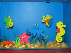 This page has a lot of free Aquarium craft ideas for kids,parents and preschool teachers. Aquarium Drawing, Aquarium Craft, Preschool Crafts, Diy Crafts For Kids, Arts And Crafts, Craft Ideas, Ocean Crafts, Fish Crafts, Drawing For Kids