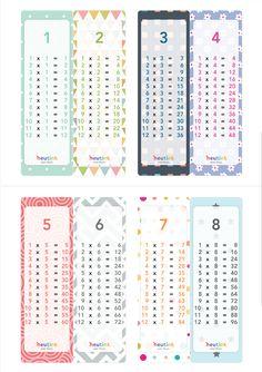 Boekenlegger tafels Preschool Worksheets, Craft Activities For Kids, Educational Activities, Kids Crafts, School Stress, Math Charts, Teaching Multiplication, Hebrew School, School Tool