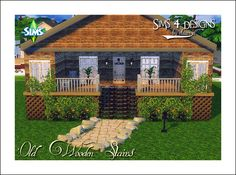 Sims 4 Designs: Old Wooden Stairs