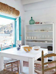 Let me take you to this lovely summer rustic retreat, located in Alicante, Spain. A dreamy and serene holiday home full peacefulness and beautiful energy. Coastal Living, Coastal Decor, Coastal Style, Design Toscano, Flooded House, Mediterranean Home Decor, Mediterranean Recipes, Rustic Cottage, Sweet Home