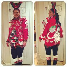 my ugly christmas sweater 2012 - Homemade Ugly Christmas Sweater
