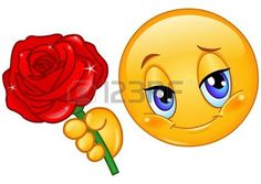 Smajlík dává červená růže