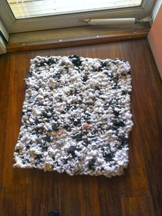 Old Holey Sock Knitted Rug