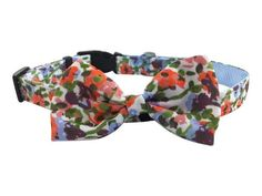 Wildflowers Dog - pet Removable Bow/Bow Tie Collar - adjustable, custom made. Hippie Look, Bow Tie Collar, Looks Cool, Apparel Design, Flower Prints, Bow Bow, More Fun, Your Dog, Collars