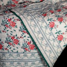 Palace Rose, block print Quilt by Fabric Society