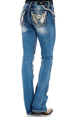 Miss Me Women's Medium Wash Little Love Embroidered Boot Cut Jeans Cowgirl Jeans, Cowgirl Outfits, Western Outfits, Cowgirl Clothing, Gypsy Cowgirl, Cowgirl Fashion, Country Girls Outfits, Country Dresses, Kevlar Jeans