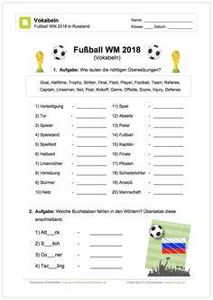 Fußball-WM, Leseaufgaben, Deutsch, 1. und 2. Klasse | Schule ...