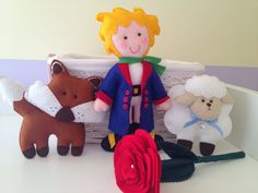 The Little Prince felt dolls by HomeMadebyArtemi on Etsy, €60.00    Like this wigs!  I can get him a white tshirt and pants- you just need to make the blue/red coat, yellow belt and green scarf! @Stephenie Plukarski ph