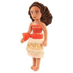 Bring the adventures of Disney's Moana home with this vibrant Moana Small Plush. Dressed in her traditional island outfit, this high-spirited wayfinder is the perfect size to take with you on all your daring voyages! Collect Moana, Maui, and the rest of their friends, Heihei, and Pua and let your imagination set sail!