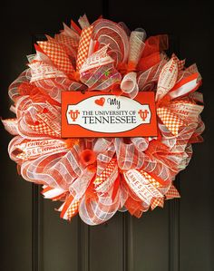 University of Tennessee,Tennessee Vols Wreath, Teacher Wreath, Tennessee Deco Mesh Wreath, Vols Football, Tennessee Ribbon, Graduation Gift