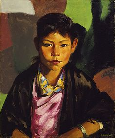 """GREAT BIOGRAPHY of Robert Henri! """"Pepita"""" Great use of colour in the background"""
