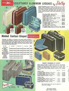 vintage suitcase ads | Vintage Shelby Luggage ad. #vintage #1950s #travel #suitcase