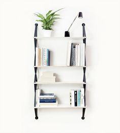 Contemporary Strap Shelving - Backpack by fifti-fifti is a Modular Wall Unit that is Chic and Light (GALLERY)