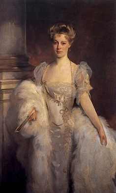 Mrs J P Morgan. Painted in 1906 by John Singer Sargent.