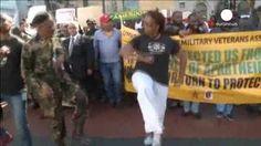 Manifestación en Ciudad del Cabo contra la violencia xenófoba en Sudáfrica
