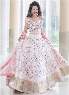 fbd6d9cc4 Exclusive Designer Baby Pink Color Party Wear Lehenga Choli-STYLIZONE -  Stylizone A beautiful blush