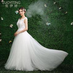 ZUOYITING 2017 Hot Selling Custom Made A Line Wedding Dresses Vestido de  Noiva Casamento Chiffon Lace 839316d7c838