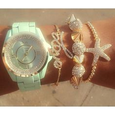 Cute watch & bracelets<3
