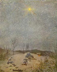 """loumargi:  """"Theodor Kittelsen (1857-1914), Décembre.  """""""