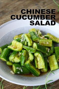 You probably had this at your local Chinese restaurant and always wondered how to make this simple yet delicious Chinese cucumber salad at home. Taiwanese Fried Chicken Recipe, Spicy Miso Ramen Recipe, Spicy Garlic Shrimp, Fried Chicken Recipes, Cucumber Recipes, Chinese Cucumber Recipe, Chinese Salad, Gastronomia, Snacks