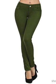 36435e52d40c7 Details about Women Skinny Colorful Jeggings Stretchy Sexy Pants Soft  Leggings Pencil Zipper