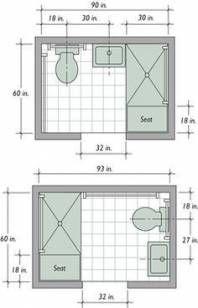 Bathroom Floor Plans Small Square Feet 49 Ideas For 2019