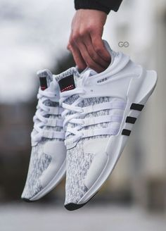Adidas EQT Support ADV - Clear Onix/White/Black - 2017 (by Clean and care for your sneakers with shoe trees by Sole Trees Sneakers Vans, Moda Sneakers, Adidas Sneakers, Sneakers Workout, Chunky Sneakers, Women's Sneakers, Black Sneakers, Running Sneakers, Platform Sneakers