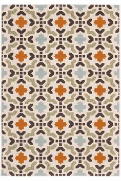 Manzon Area Rug - Outdoor Area Rugs -Comes in just blues too | HomeDecorators.com
