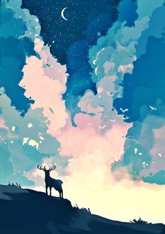 ideas illustration art painting beautiful for 2019 Art Inspo, Kunst Inspo, Inspiration Art, Art Anime, Anime Kunst, Fantasy Kunst, Fantasy Art, Art Et Illustration, Illustrations
