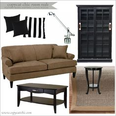 Copy Cat Chic: Copy Cat Chic Room Redo I Pottery Barn Inspired Living Room