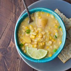 Potato, Corn and Jalapeno Soup