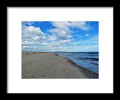 Holden Beach Framed Print featuring the photograph Holden Beach Nc by Cynthia Guinn