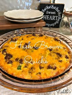 Estelle's: HASH BROWN QUICHE Places To Visit, England, Southern Recipes, Quick Meals, Decorating, Brown, Quiche, Breakfast Recipes, Curry