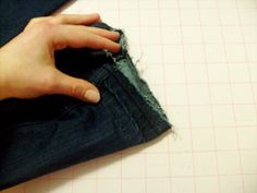 Tutorial on how to make your jeans a little longer