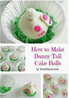 Bunny tails cake pops