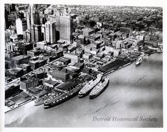 Detroit Riverfront 1930 State Of Michigan, Detroit Michigan, Metro Detroit, Detroit History, Local History, History Photos, Great Lakes, The Good Old Days, Wyoming