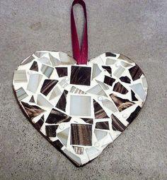 Mosaic Mocha Heart Ornament Wall Hanging http://arnd.co/uxEIh  #bestofEtsy #etsyretwt
