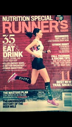 Check out this month's cover of Runner's World (more specifically, her socks)
