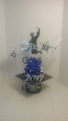 Graduation Centerpiece, Birthday Decorations, Hanukkah, Centerpieces, Wreaths, Home Decor, Anniversary Decorations, Decoration Home, Door Wreaths