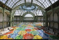 Daniel Buren at Monumenta 2012, love the colors, the playfulness and the interactive quality of this piece!
