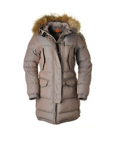 PARAJUMPERS Harraseeket Women Sand High Fill Power Down Coat