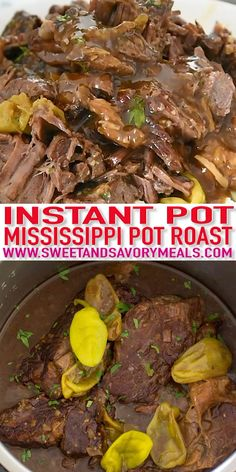 Instant Pot Mississippi Pot Roast [VIDEO] - Sweet and Savory Meals Instant Pot Mississippi Pot Roast is one of the most amazing pot roasts you can make in the pressure cooker. Buttery, juicy, tender and full of pepperoncinis, ranch, and au jus flavors. Pressure Cooker Pot Roast, Slow Cooker Roast, Instant Pot Pressure Cooker, Pressure Cooker Recipes, Pressure Cooking, Best Instant Pot Recipe, Instant Pot Dinner Recipes, Sunday Dinner Recipes, Mississippi Roast Crock Pot