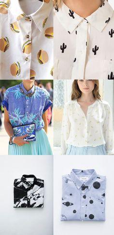 Nos inspiramos con camisas estampadas y originales